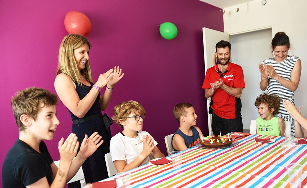 Un anniversaire dans l'une de nos salles décorées Exalto